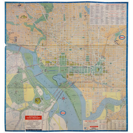 Washington D C Map 1967